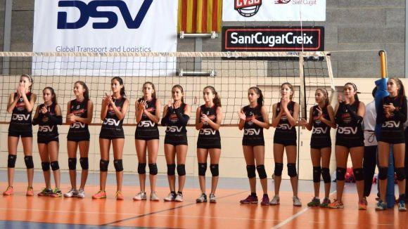 L'infantil del DSV-Club Voleibol Sant Cugat, campió de la lliga regular
