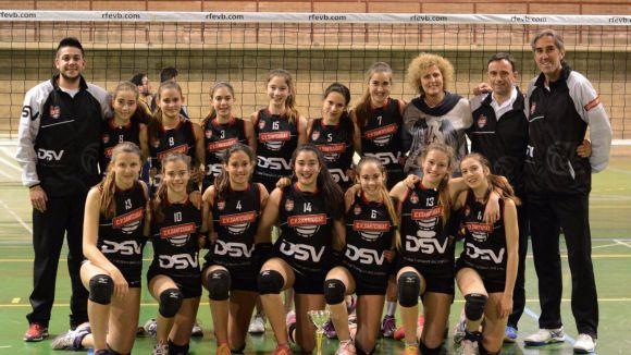 L'infantil del DSV-Club Voleibol Sant Cugat, campió de Catalunya / Font: Adolf Priante