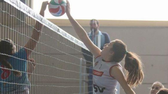 Imatge d'un dels partits del Volei Sant Cugat / Font: Rfevb.com