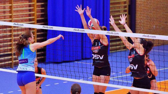 Imatge del partit entre el Leganés i el DSV-Volei Sant Cugat / Font: Rfevb.com