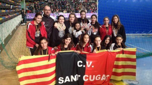 El Voleibol Sant Cugat obté una tercera posició a la Copa d'Espanya infantil