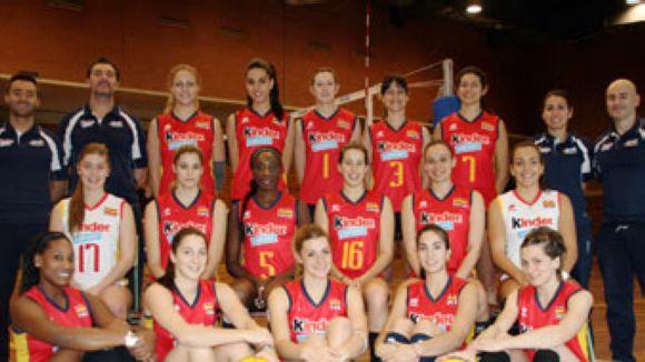 El CAR acull la selecció femenina espanyola de voleibol amb l'objectiu del Premundial