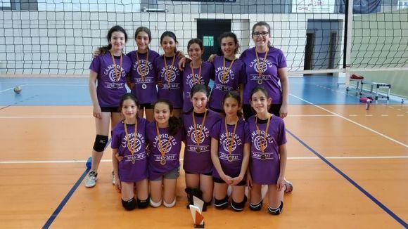 La'leví del Pins del Vallès, campió de Catalunya escolar de voleibol / Font: cedida