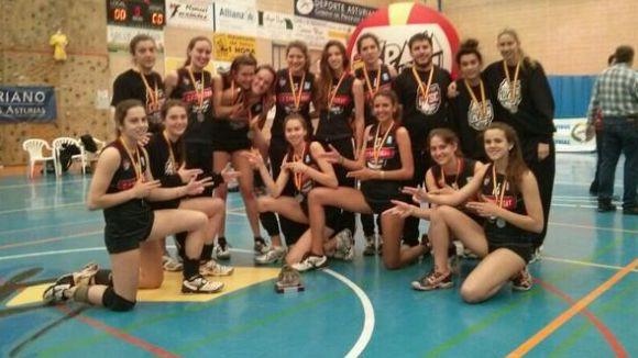El Voleibol Sant Cugat aconsegueix la medalla de plata al Campionat d'Espanya