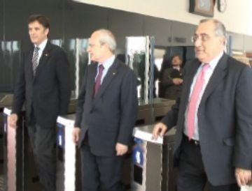 Inaugurada l'estació de FGC de Volpelleres entre protestes sindicals