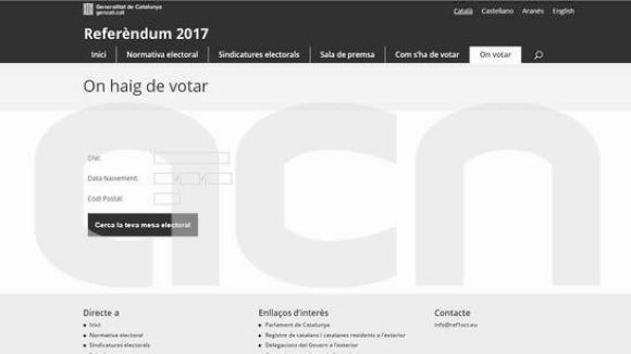 La Generalitat fa públics els llocs de votació per a l'1-O a Sant Cugat