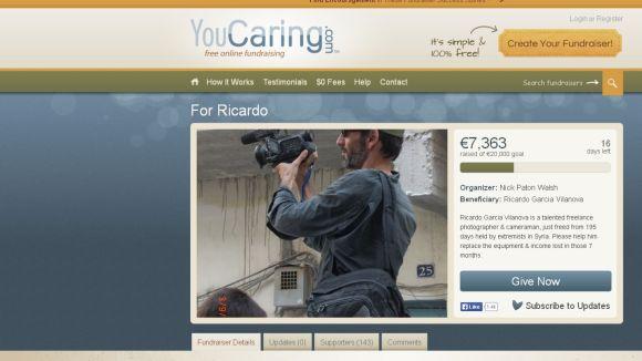 Una web recull suport econòmic a Ricardo Garcia