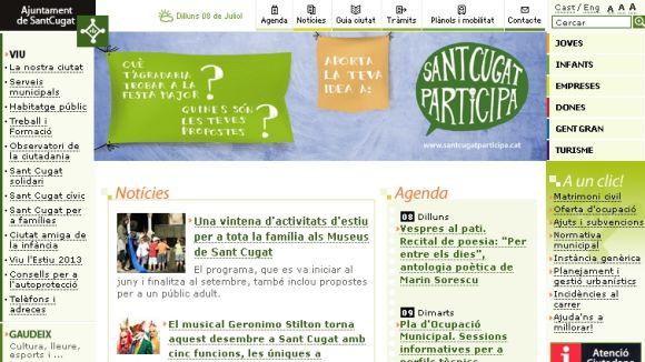 La nova web de l'Ajuntament entrarà en fase de proves a l'agost
