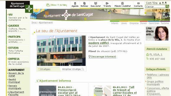 El web de l'Ajuntament, entre els 10 millors en accés a la informació