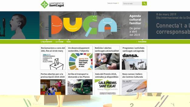 La web de l'Ajuntament de Sant Cugat ha rebut un 94% d'indicadors positius / Foto: Ajuntament