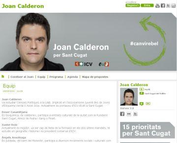 ICV-EUiA crea una web de Joan Calderon de cara a la campanya electoral