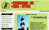 Portada de la nova pàgina web dels Castellers de Sant Cugat