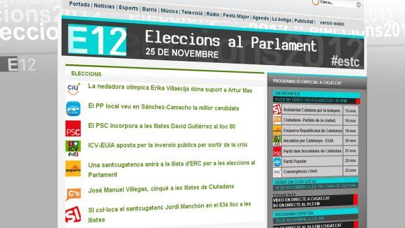 Cugat.cat ofereix una web especial per a la campanya electoral del 25-N