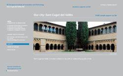 La web de suport a Sant Cugat com a seu de l'IET també tindrà versions en català i espanyol