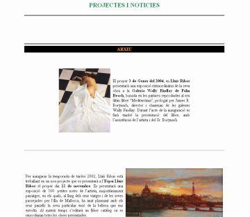 El pintor Lluís Ribas estrena avui web autobiogràfica