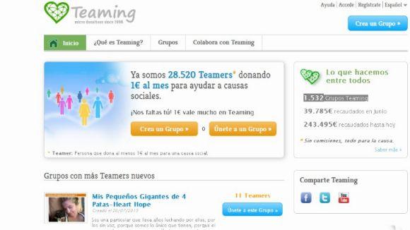 Teaming espera arribar als 100.000 euros mensuals en donacions aquest any