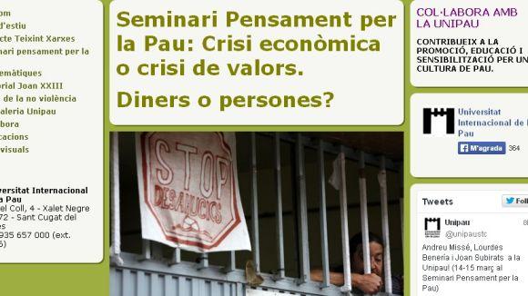 La Unipau planteja el debat: 'Diners o persones?'