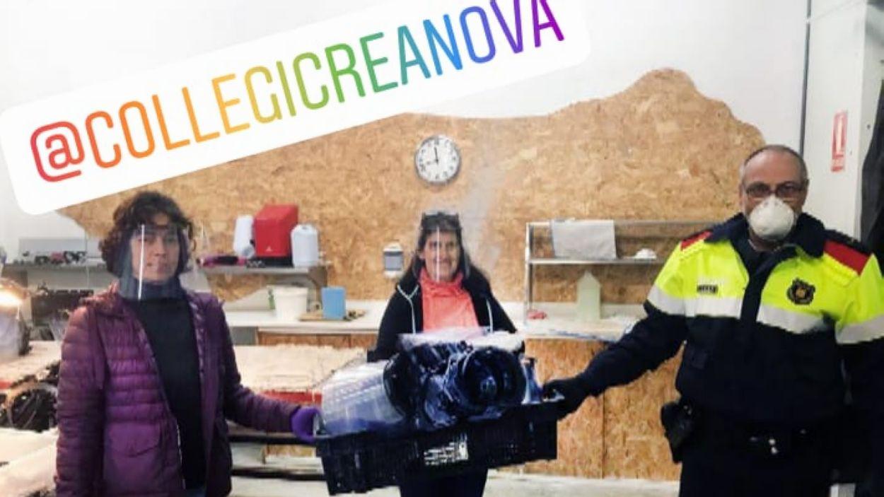 El centre ha donat més de 1.500 viseres / Foto: Col·legi Creanova
