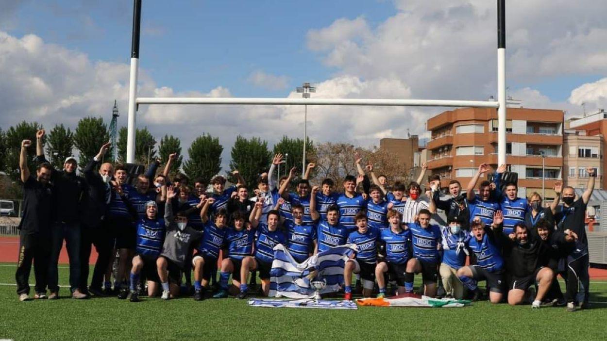 El sub 18 del Rugby Sant Cugat, protagonista de l'Esport en Marxa / Foto: Cedida