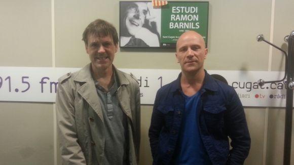 Xavier Blanch i Lluís Fàbregas, a l'estudi Ramon Barnils de Cugat.cat