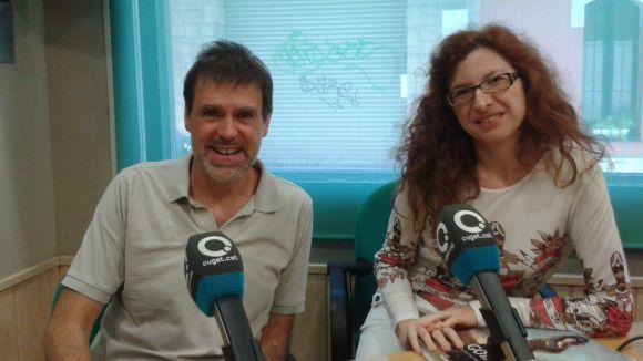 Marta Rodrigo al costat del col·laborador del programa Xavier Blanch