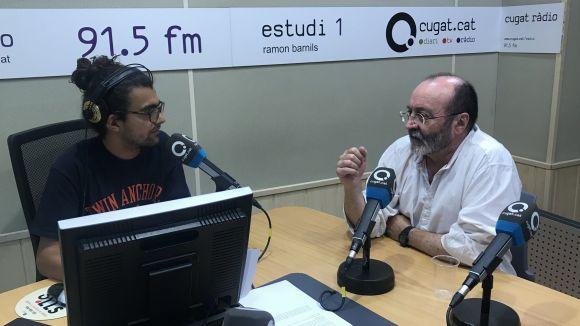 Giró s'ha desplaçat fins els estudis de Cugat.cat