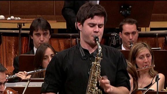 El jove saxofonista Xavier Larsson ofereix avui un concert a la ciutat