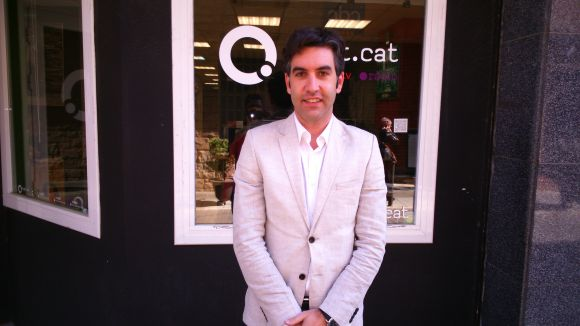 Xavier Tizón a les instal·lacions de Cugat.cat