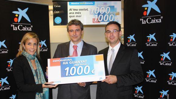 La Caixa premia a tres clients de Sant Cugat amb una paga de 1.000 euros