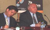 El professor Fabià Estapé amb l'alcalde Recoder
