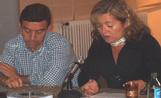 David Dalmau i la regidora Àngels Ponsa a la xerrada sobre l'Iraq