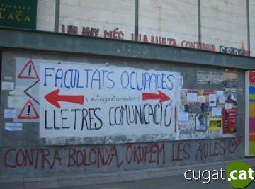 Ocupacions a facultats de la UAB en contra del Pla Bolonya