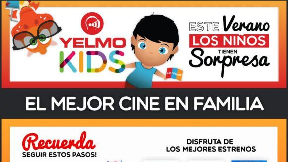 Sorteig d'un any de cinema gratis amb el 'Passaport Yelmo Kids'