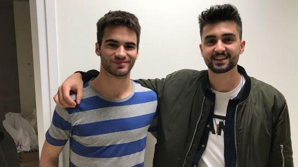 D'esquerra a dreta, Pau Gilabert i David Yepes