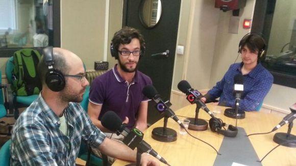 Juanjo Suárez i José Manuel Servera (Jobooks) i Enrique Fernández (Pentagram), participants de Yuzz