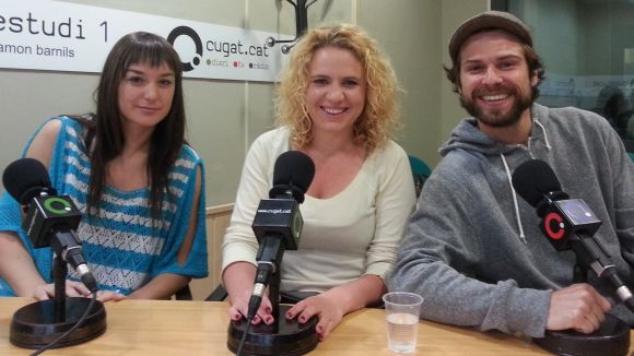 D'esquerra a dreta: Cristina Míguez (WeSmartPark), Maria Mallorquí (Circle Point) i Joan Pont (Soonon)
