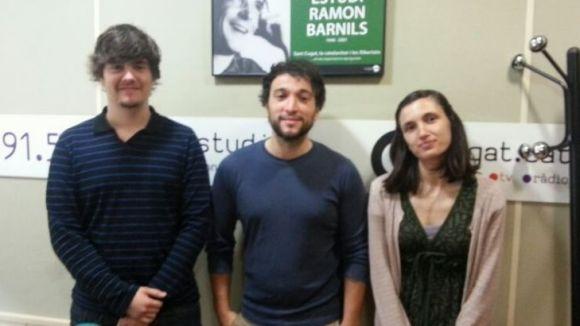 Oriol López (Sheet Musical Services), Daniel Roig (Phobious) i Vanessa López (Tumbuh) joves del programa Yuzz que aquest dimecres han intervingut al 'Sant Cugat a fons'