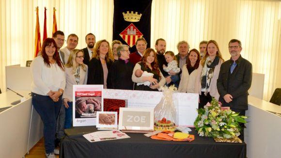 Sant Cugat dóna una benvinguda plena d'obsequis a Zoe Feito Murcia, la primera santcugatenca del 2018