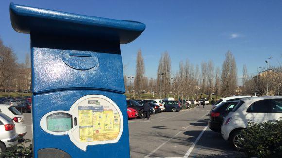 Un aparcament de zona blava