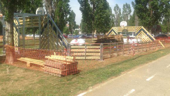 Comencen les obres d'ampliació i millora dels parcs infantils